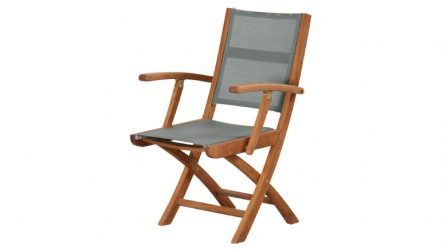 Teak Batyline Folding Arm Chair