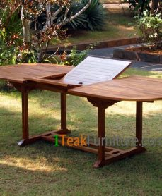 Teak Oiled Oval Ext. Table