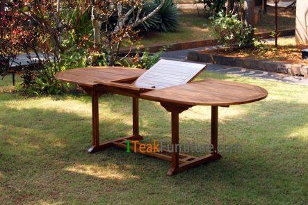 Teak Oiled Oval Ext. Table