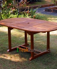 Teak Oiled Oval Ext. Table 170