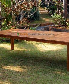 Teak Oiled Rectangular Table
