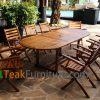 Teak Oiled Dining Table Sets 6