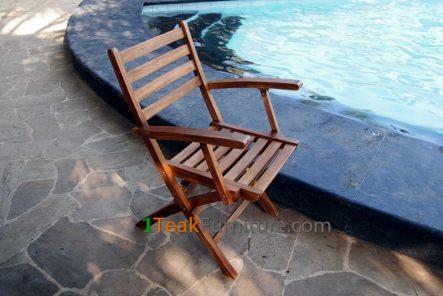 Teak Oiled Bali Arm Chair