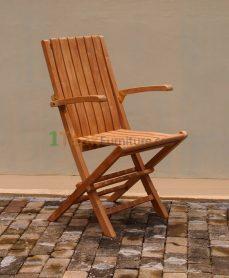 Teak Folding Arm Chair