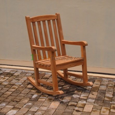 Teak Rocking Arm Chair