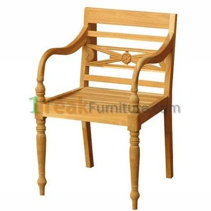 Teak Stacking Arm Chair