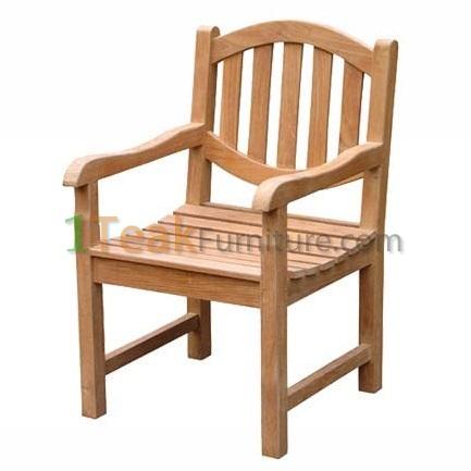 Teak Oval Java Arm Chair
