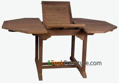 Teak Octagonal Extend Table 120-170 / 100