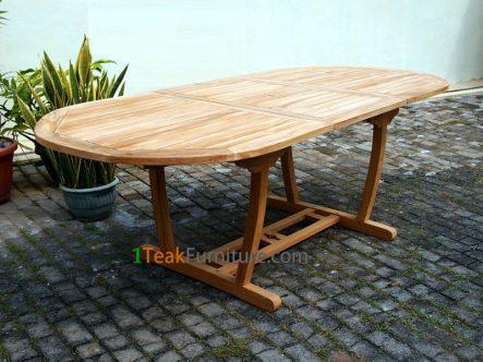 Teak Lengkung Oval Extend Table 170-230 / 100