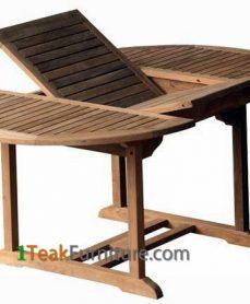 Teak Oval Extend Table 120-170 / 100