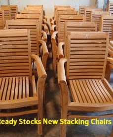 Ready Stocks Teak Stacking Chair