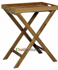 Teak Tray With Stand