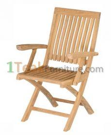 Teak Hilton Folding Arm Chair