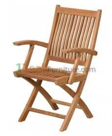 Mobili Teak Folding Arm Chair