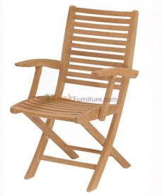 Teca Folding Arm Chair
