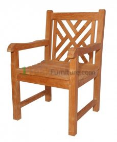Teak Cross Java Arm Chair