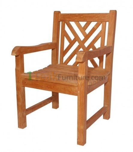 Teak Cross Java Arm Chair