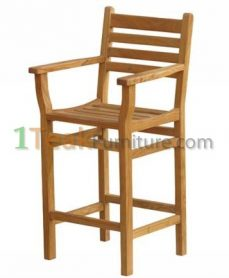 Teak Bar Arm Chair