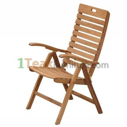 Teak Classic Reclining Chair