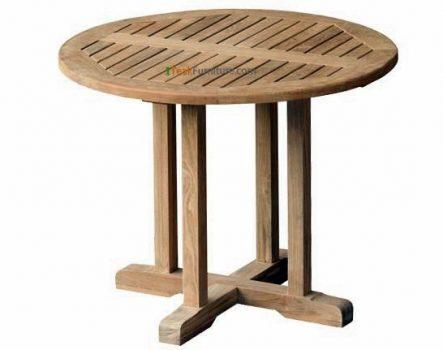 Teak Round Bistro Table 100