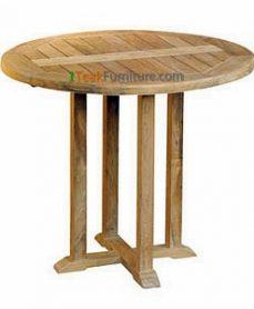 Teak Round Bistro Table 80