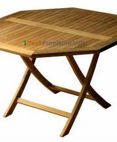 Teak Octagonal Folding Table 100