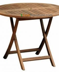 Teak Round Folding Table