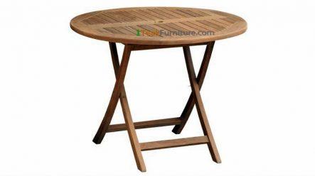 Teak Round Folding Table 70