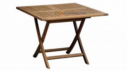 Teak Square Folding Table 130