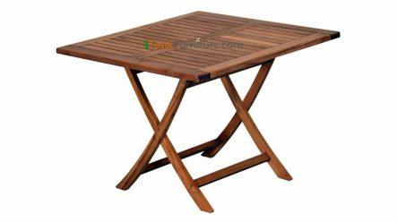 Teak Square Folding Table 100