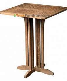 Teak Square Bar Table