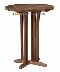 Teak Round Bar Table 70