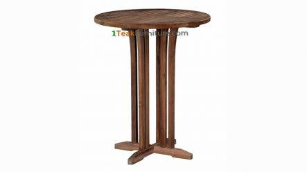 Teak Round Bar Table 70