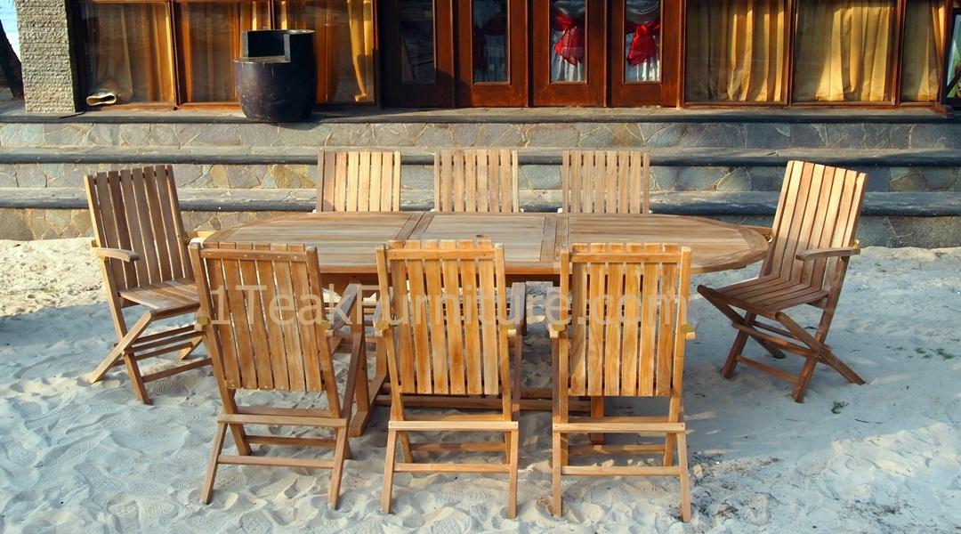 Teak garden furniture manufacture